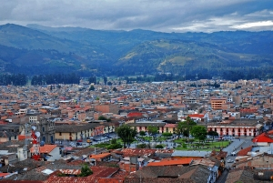 The sprawling city of Cajamarca, Peru.