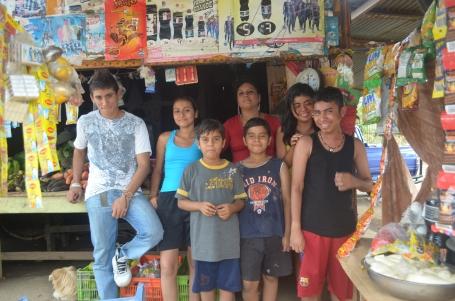 Beatriz Espinoza and her family.