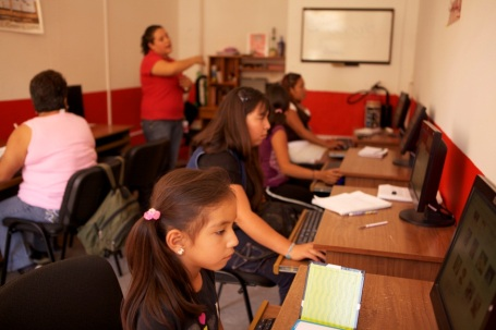 Computer Center at Pro Mujer in Mexico.
